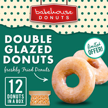 *** BACK IN STOCK! *** DOUBLE GLAZED DONUTS x 12 PIECES // FREE DELIVERY //