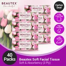 [CARTON DEAL] Beautex Soft Pack 3Ply Facial Tissue 10 x 4 x 140sheets (40 packs)