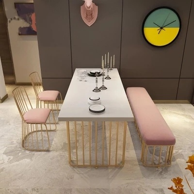 Nordic Dining Table Solid Wood Modern Minimalist Dining Table And Chair Combination