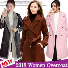 2018 Women Overcoat ★ Jacket ★ Dust coat ★ Fur Jacket ★ Spring Autumn Winter Woolen coat ★ Outerwear