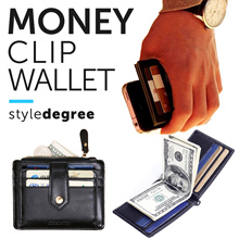 ★ SLIM MONEY CLIP ★ MEN WALLET! Quality PU Leather! Wallets Bags bag pouch name card holder