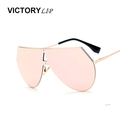 320f93257b Victorylip Fashion 2016 Women Brand Designer Oval Retro coating Sunglasses  Men Flat Top Driving Lad