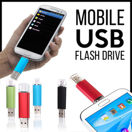 [CLEARANCE] mobile USB Flashdisk / OTG 2IN1 64GB-32GB-16GB-8GB-4GB Flash Drive Metal