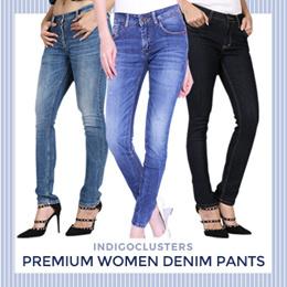 INDIGOCLUSTERS - Premium Women Denim Pants - Celana Jeans Wanita