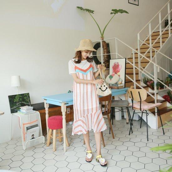 クルリクエンミメイクルセットワンピース 塔/袖なしのワンピース/ 韓国ファッション