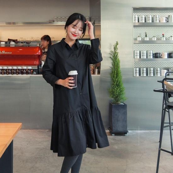 ジェイ・スタイルビックサイズエッブたフリルシャツ、ワンピース 大きいサイズ/ワンピース/韓国ファッション