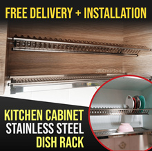 ◣5 YEARS WARRANTY◥ ◣FREE INSTALLATION◥ KITCHEN CABINET SUS304 STAINLESS STEEL DISH RACK