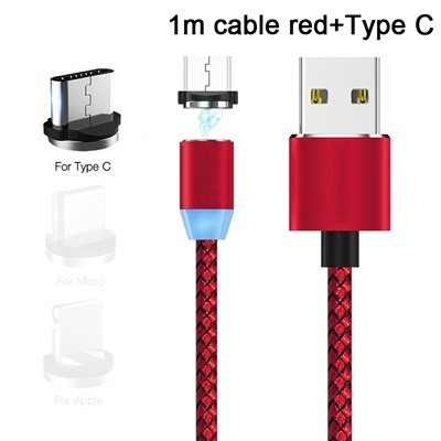 Red cable(1M)+Type C Magnetic head