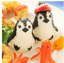 MJ/Japan arnest Aquarium of penguin Rice and vegetable roll mould DIY baby easy Steamed Rice die set