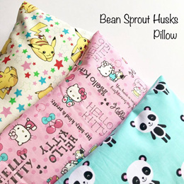 🌈Anti-Bacterial Treated Natural Bean Sprout Husk Pillow Beansprout Baby Pillow 100% Handmade Beanie