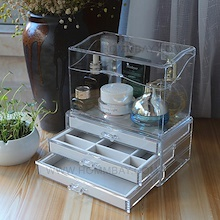 Cosmetic Acrylic Makeup Make up Organizer Organiser Jewellery Storage Box Stackable Cheap SET