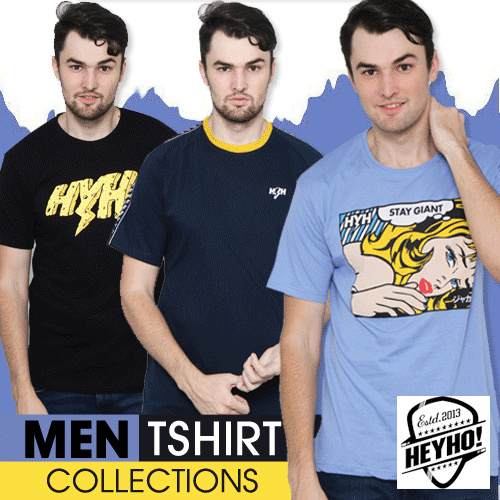 Heyho 28 STYLES MEN TSHIRT COLLECTION // FLAT PRICE // FREE SHIPPING Deals for only Rp87.500 instead of Rp87.500