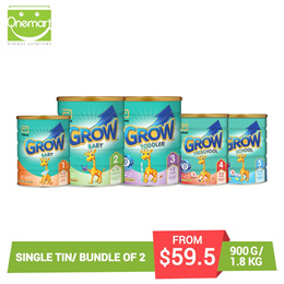*Made in Singapore* [Single Tin/Bundle of 2] Grow 900g/1.8kg *helps meet the nutritional needs*