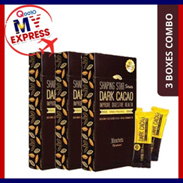 ★3 BOXES COMBO★APPLY QOO10 CART COUPON★ DARK CACAO SHAPING STAR / SLIMMING / CLA BURN FAT FORMULATION