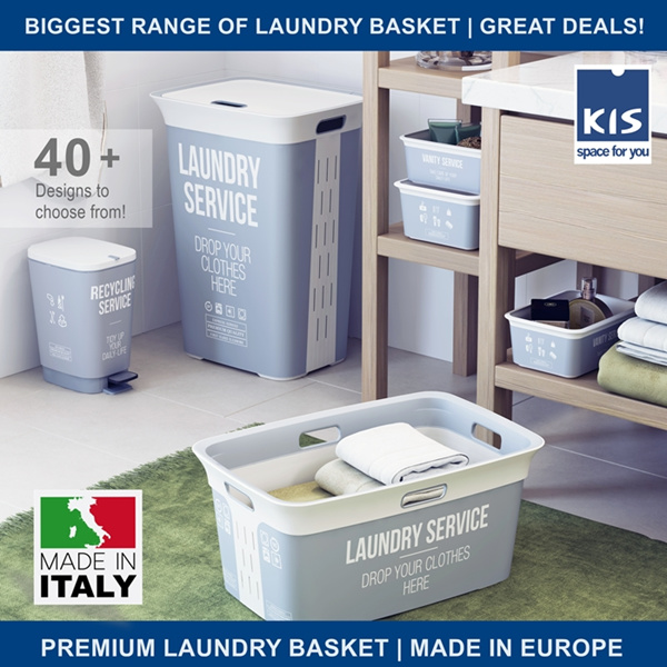 [1+1] [BL] LAUNDRY BASKETS / RACKS / HAMPERS / BASKETS | MULTIPLE DESIGNS | AUTHENTIC MADE IN EUROPE Deals for only S$69 instead of S$69
