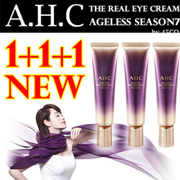 [AHC / A.H.C] 1 + 1 + 1 AGELESS REAL EYE CREAM FOR FACE 12 ml x 3 3WCLINIC]Collagen Snail Eyecream