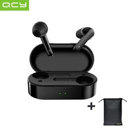 QCY-T3 Bluetooth 5.0 TWS Earphone + QCY Pouch Present !! + Bullet Shipping !! + Secured stock !!