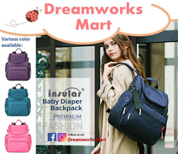 [INSULAR] Multi-functional Mummy Diaper Backpack | Large Compartment [FREE Gift]