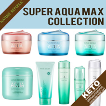 [nature republic]super aqua max/watery toner/essence/cream/white emulsion/peeling gel/sleeping pack
