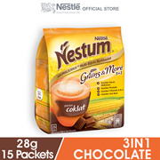NESTLE NESTUM Grains More 3in1 Chocolate 15 Packets 28g Each