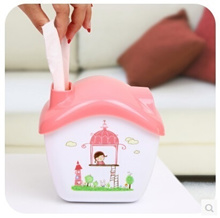 1 Cute flying house out of paper towel tube tissue box storage box creativity multifunction mobile phone holder K2764