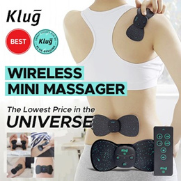 ⭐️No.1 in KOREA⭐️Klug Mini Massager S ❤️ Wireless + Remote Controller 💚  Two Replaceable Pads