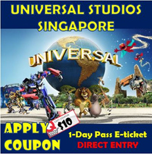 ★QOO10 LOWEST PRICE+$8 COUPON★Universal Studios Singapore Admission ticket  / USS E-ticket /uss