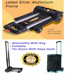 Foldable Hand Trolley Cart * Light Aluminium/2-Wheel/4-Wheel/Compact/Extendable/Portable*Only 1.8kg
