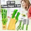 Q2 009 Pisau Dapur 1 Set (Warna Random)
