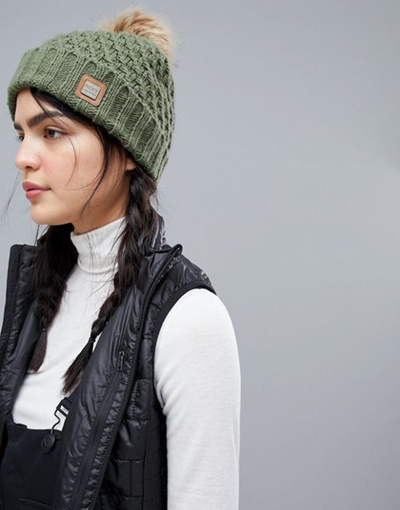 Qoo10 - Roxy Blizzard Beanie Hat in Green   Fashion Accessories f2be5897ecf