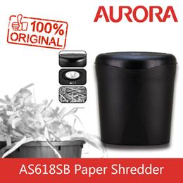 Aurora AS618SB 6 Sheet Strip Cut Paper Shredder.