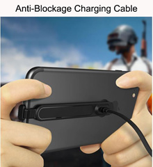 ❤SG Seller❤ Anti-Blockage Charging Cable ❤ Play Mobile Game Without Annoying Charging Cable Blockage