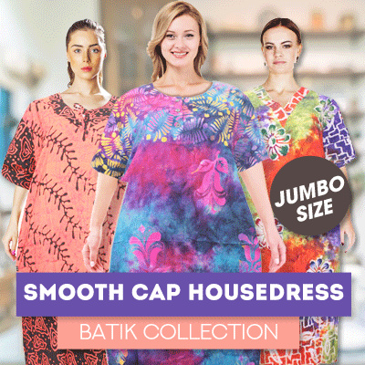 Premium Smooth Cap Housedress Batik Collections Deals for only Rp75.000 instead of Rp75.000