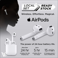 Authentic Apple AirPods **Singapore Local 1 Year Warranty** use your coupon here
