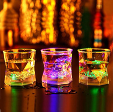 Water Induction Luminous Green Plastic Cup Of Beer Remanbar Night#fashion store