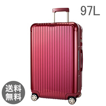 【E-Tag】 RFID tag RIMOWA Rimowa 【4 wheels】 Salsa Deluxe suitcase multi 873.77 87377 【Salsa Deluxe】 Multiwheel Red 97L (8