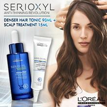 Best-seller LOreal SERIOXYL Denser Hair Tonic 90ml Black Thicker Serum Shampoo Conditioner 1L