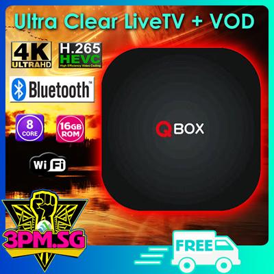 Qbox Tv Box 4K Streaming Live TV Astro