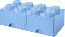 LEGO 8 - Stud Storage Brick Drawer: LIGHT BLUE (LS-40061736)