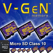 V-GEN MEMORY CARD MICRO SD CLASS 10 + ADAPTER