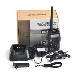 New BaoFeng UV-5R Portable Radio UV 5R Walkie Talkie 5W Dual Band VHFUHF 136-174Mhz 400-520Mhz Two W