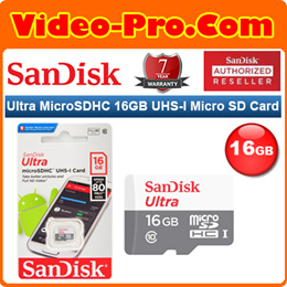 Sandisk Ultra MicroSDHC 16GB UHS-I 80MB/s without Adapter SDSQUNS-016G-GN3MN 7-Years Local Warranty