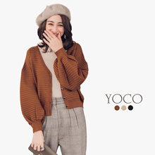 YOCO - Textured Knit Cardigan-172602-Winter