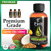 Premium Grade Coconut/Jojoba/Sweet Almond Cold Pressed Carrier Oil/For Dilute Essential Oil 120ml