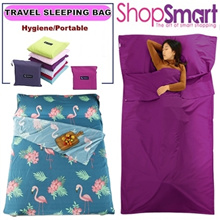 ★Travel Sleeping Bag★ Single Double /Ultralight Portable Cotton Sleeping Bag/Close Anti-dust/Hygiene