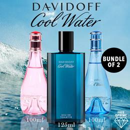 BUNDLE OF 2! DAVIDOFF COOL WATER WOMEN 100ML EDT spray / 125 ml Men / SEAROSE 100ml