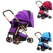 Baby Stroller 2-Way Lightweight Folding Baby Seat Reclining Baby New-born Child Cart