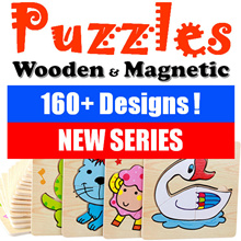 9 Aug NEW SERIES - 160+ Designs Children Wooden Magnetic Jigsaw Puzzle ★ Goodie Bag