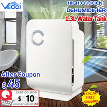 LOCAL ⚡High Efficiency Dehumidifier⚡SG Plug👍1.3L Automatic Electronic Mildew Killer Air Purifier