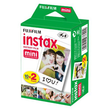 FUJIFILM Plain Twin Pack Instax Film 20 Sheets (Ready to use Instax Film compatible for Mini  7s | 8